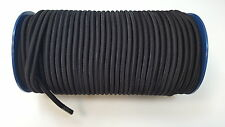 8mm x 10 Meters Black Elastic Bungee Rope Shock Cord Tie Down Boats Trailers