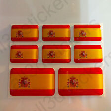 Pegatinas España Pegatina Bandera Española Vinilo Adhesivo 3d Relieve Resina