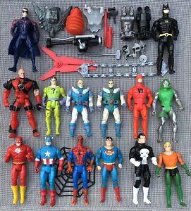 1984 Kenner DC Super Powers Flash Aquaman Superman Mavel Vintage lot of 14