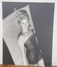 Vintage 1960's Pretty Woman In Black Dress On Mat 16x20 Art Show Photo Exhibit