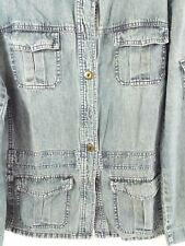 Preowned Mossimo Long Sleeve Button Front Jean Jacket Size L
