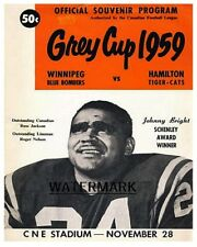 CFL 1959 Grey Cup Program Bombers vs Ti Cats Johnny Bright Cover 8 X 10  Photo