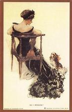 Postcard Nostalgia c1915 Art Nouveau Edwardian Pin Up Glamour Reproduction Card