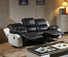 Voll-Leder Fernsehsessel Couch Sofa Relaxsessel Polstermöbel 5129-3-SW