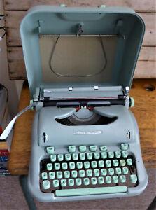 Vintage 1960 Hermes 3000 Swiss Portable Typewriter - Spares or Repair