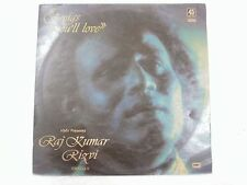 RAJ KUMAR RIZVI SONGS YOU WILL LOVE 1978 RARE LP RECORD india hindi GHAZAL EX