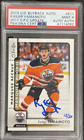 2019 BUYBACKS 2017 Kailer Yamamoto PSA 9 #12/20 AUTO RC OPC MARQUEE ROOKIE DNA
