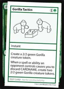 Gorilla Tactics - Mystery Booster - The List - Test Card MtG Magic