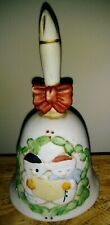 Vintage Christmas Carolers Dinner Bell Collectible Porcelain Ceramic