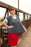 'Miss Dotty' Maternity Top - Mamas All That - Vintage Inspired Maternity Wear
