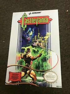 "Castlevania NES Nintendo Video Game Art Poster - 12"" x 18"""