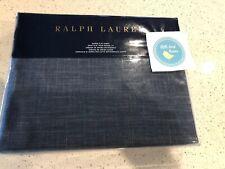 Ralph Lauren Artisan Loft Laight Dark Blue Queen Flat Sheet 96x108in