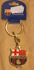 More details for official gold fc barcelona metal keyring club crest heavy genuine barca fcb gift