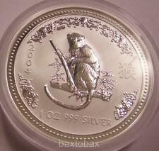 2004 AUSTRALIAN LUNAR YEAR OF THE MONKEY  1 oz.  SILVER COIN *BU* ~ Series 1