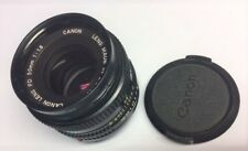 Vintage Collectable 1980's Canon FD 50mm 1 1:8 Lens with 52mm Skylight Filter