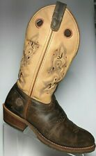 Double H Womens Tan Brown Leather Round Toe DH5255 ICE Boots Buckaroo US 10 $229