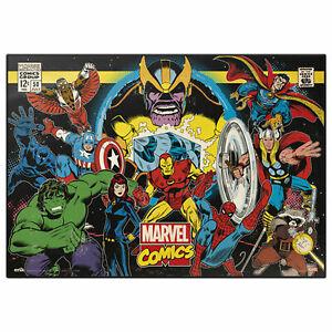 Marvel - Retro - Charaktere - Schreibtischunterlage ca. 35x50 cm, abwischbar