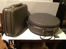 Vintage American Tourister Hat Box Tain Case & Cosmetic Case w/key
