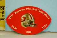 1973 San Francisco 49ers Football Schedule Roos Atkins Active Westerners #SF02