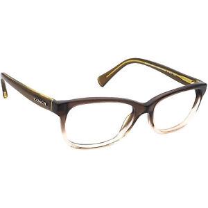 Coach Eyeglasses HC 6089 5400 Olive Brown Gradient/Olive B-Shape Frame 51-16 135