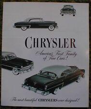 1953 Chrysler 53 FL Brochure Windsor Imperial