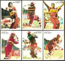 FUTERA 1996 WORLD CUP CRICKET WEST INDIES PLAYERS Set of 6 Cards with BRIAN LARA