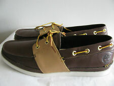 Timberland Men's 2 Eye Oxford Brown Smooth Leather Shoes Size 10 M NEW