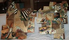 AFRICAN ABSTRACT 2 PIECE WALL ART  Isaac Hayes Estate