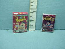 Dollhouse Miniature Cocoa Pebbles 54057 & Fruity Pebbles 54316 Cereal Boxes 1/12