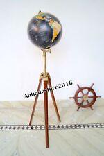 Antique Beautiful World Globe With Floor Tripod Stand Nautical Decor Marine Gift