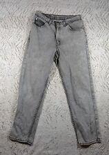 Vintage BRITTANIA Gray Black Washed Out Straight Leg Denim Jeans, Sz W32 L30