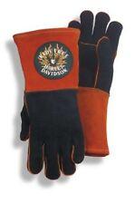 Harley Davidson Orange Fire Eagle Skull Large Welding Gloves