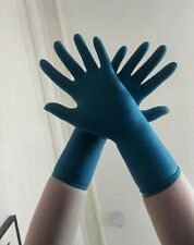 10 Pairs Blue Surgical Latex Gloves Underglove Fetish Medical