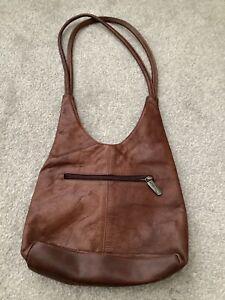 Valentini Vintage Brown Genuine Italian Soft Leather Shoulder Bag. VGC.