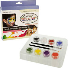 8 Primary Color RAINBOW Clown FACE PAINT PAINTING KIT Makeup Set Custom Body Art