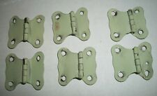 6 Small Off Set Hinges--Painted Steel