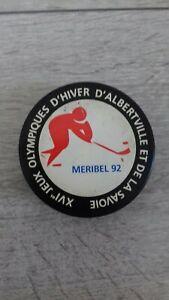 palet hockey sur glace jeux olympique hiver Albertville  MERIBEL 1992 collector