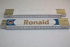 Zollstock mit  NAMEN      RONALD   Lasergravur 2 Meter Handwerkerqualität