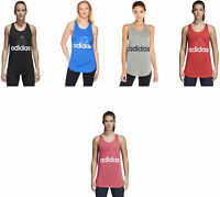 adidas Women's Essentials Linear Loose Tank Top, 6 Colors