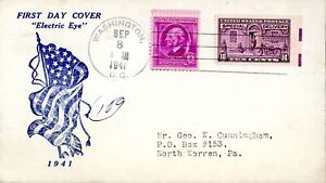 """US FDC """"ELECTRIC EYE"""" (Sept 8, 1941) Special Delivery #E15 - Postman and Moto..."""