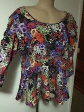 3/4 Sleeve City Chic Floral Plus Size Tops & Blouses for Women