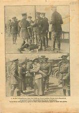 WWI King George V General Sir Arthur William Currie Canada War 1917 ILLUSTRATION