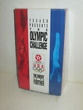 TEXACO PRESENTS THE OLYMPIC CHALLENGE VHS VIDEO TAPE CASSETTE 1992 TEAM USA