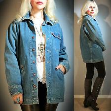 Vtg 80s LEVI'S Stonewash Faded Denim Blue Hippie Boho Festival Jean Jacket Coat