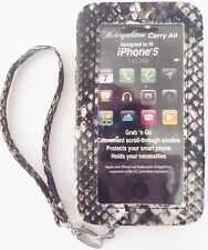 New Black Snake Metropolitan iPhone 5 Case Carry All Wristlet Organizer Wallet