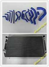 FOR JAGUAR XJS/XJ12 12V 1976-1996 ALLOY RADIATOR+RADIATOR&HEATER SILICONE HOSE