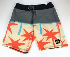Quicksilver Mens Size 28X19 Board Shorts Side Zipper Pocket Swim Trunks Swimwear