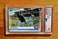 2019 Topps #596 ANTHONY RIZZO Gatorade Bath Cubs PSA 9 MINT