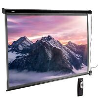 VonHaus 100 Inch Automatic Projector Screen 16:9 With Remote Home Cinema HD 4K
