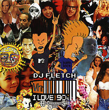 DJ Fletch I Love the 90's Rock Pop (Mix CD) Old School Non Stop Mixtape